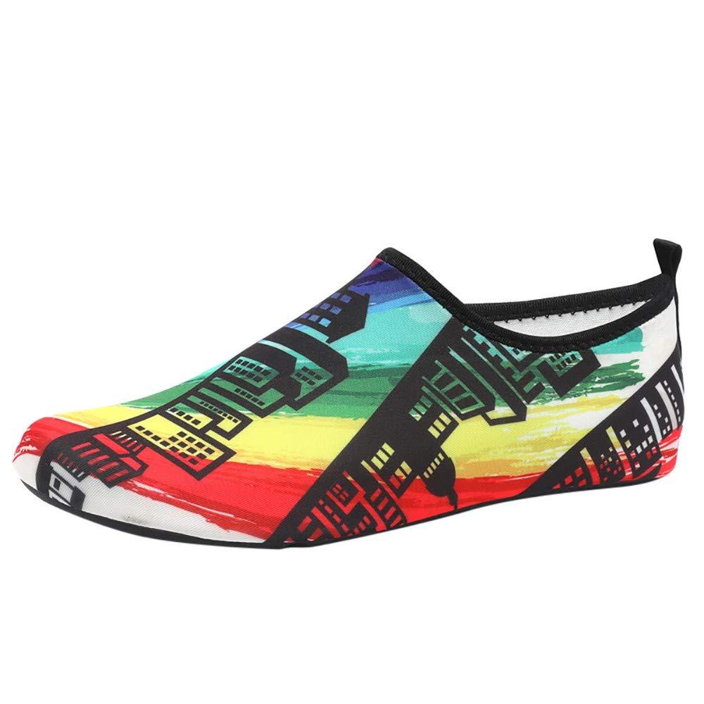 WOZOW Chaussures Aquatiques pour Hommes Barefoot à Séchage Rapide Aqua Socks Beach...