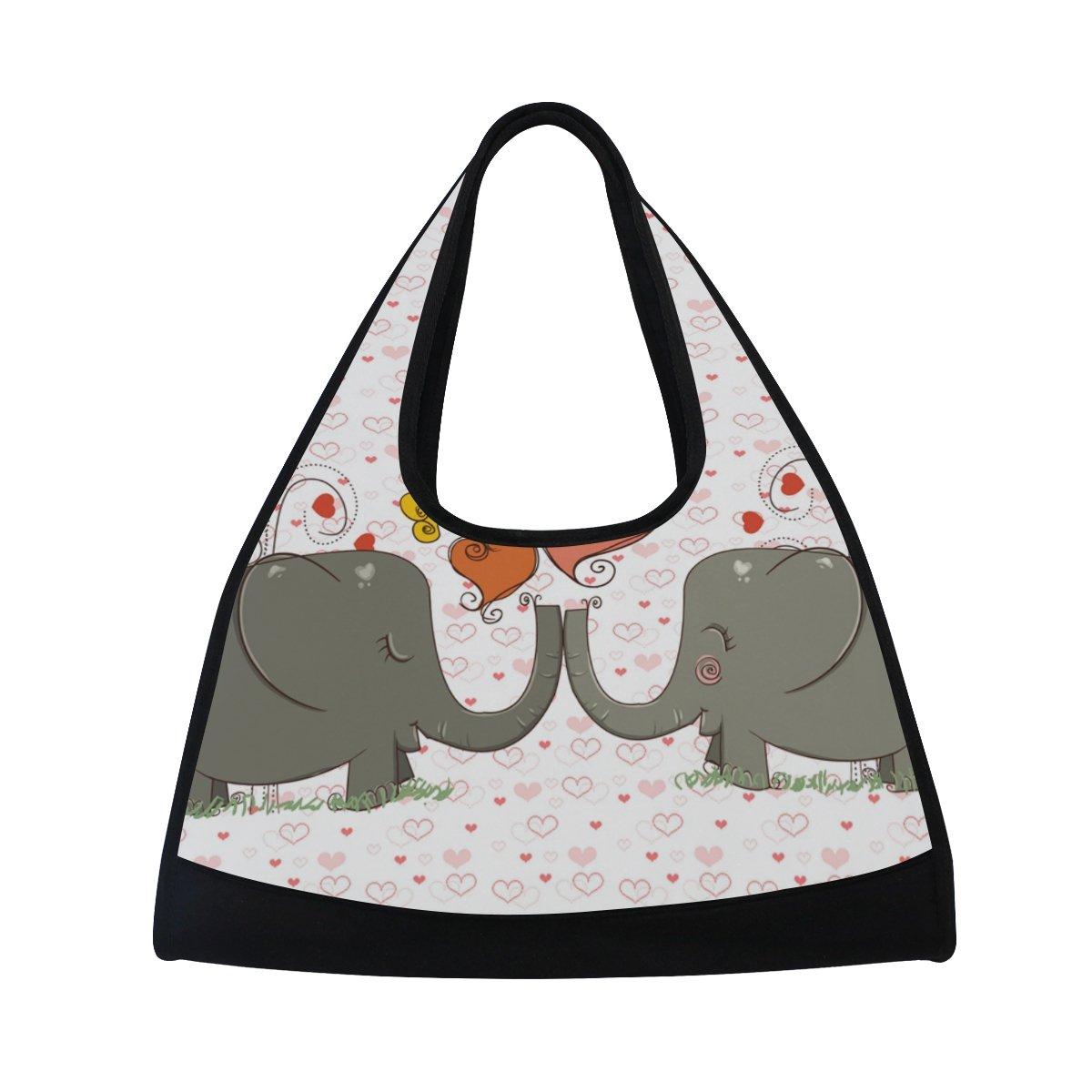 AHOMY Sports Gym Bag Elephant Love Heart Duffel Bag Travel Shoulder Bag by AHOMY (Image #1)