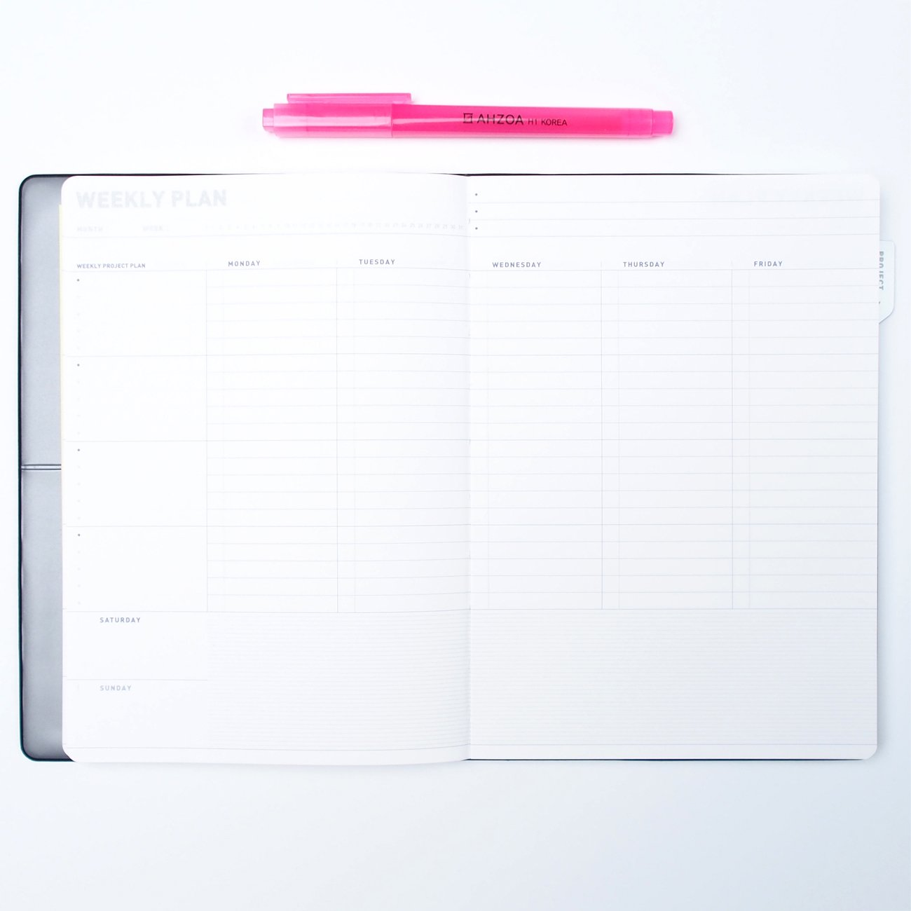 amazon com weekly planner project organizer with ahzoa