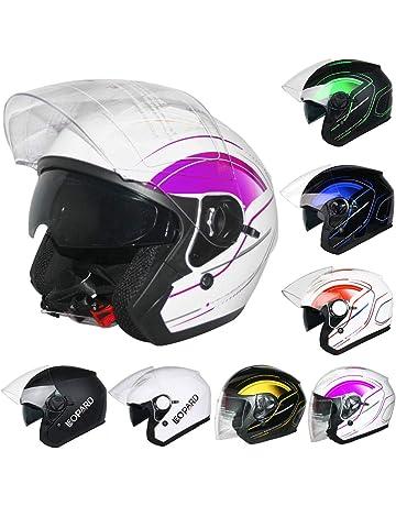 be33ecd69 Leopard LEO-608 DOUBLE SUN VISOR Open Face Helmet SV Motorbike Motorcycle  Helmet