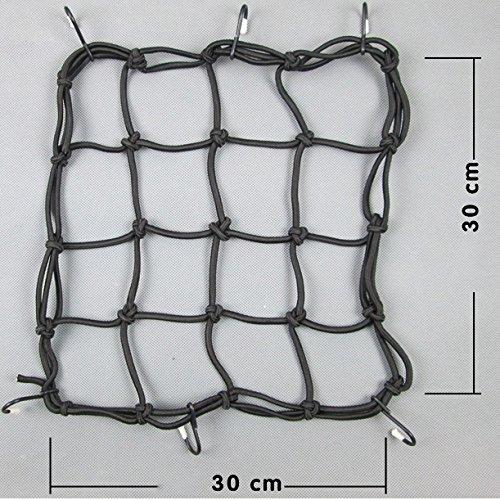 Luggage Mesh Bungee Cord Net for Motorcycle Bicycle 40cm 40cm Binnan Heavy-Duty Elasticate Cargo Net with Hooks