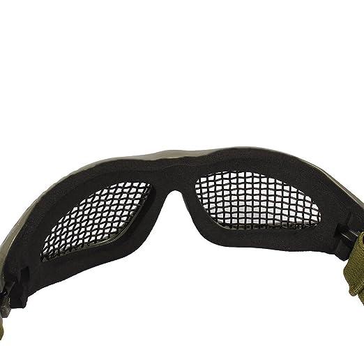Tactical Military Metal Mesh Goggles Lunettes de tir Masque Airsoft Pour CS  Shooting Casque de Chasse Lunettes de Protection (Olive)  Amazon.fr  Jeux  et ... fd15f5806d4c