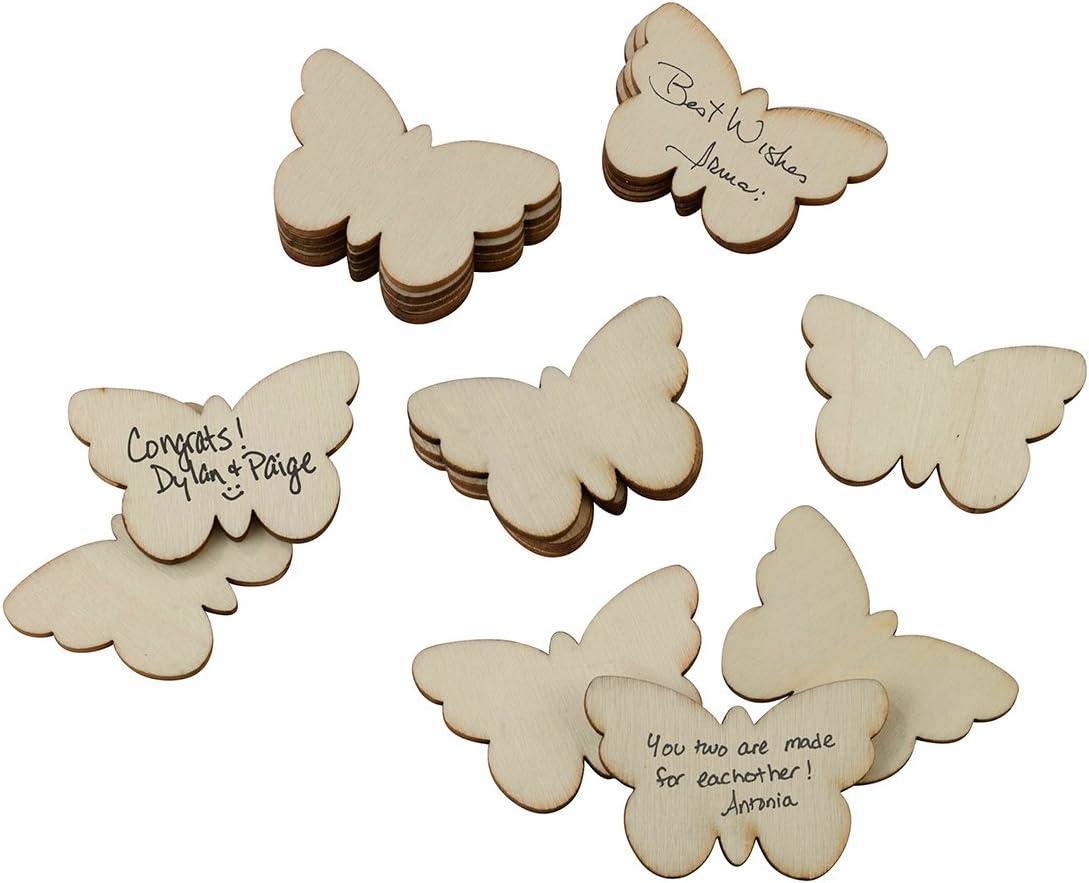 "Lillian Rose Guest Signing Butterflies (Set of 49), 1.75""x1.25"", Brown"