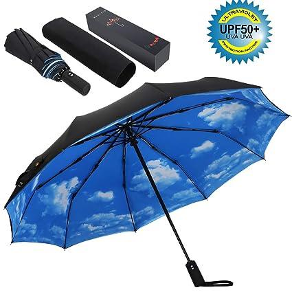 Amazon.com: Sombrilla de golf ESUFEIR 10 varillas, paraguas ...