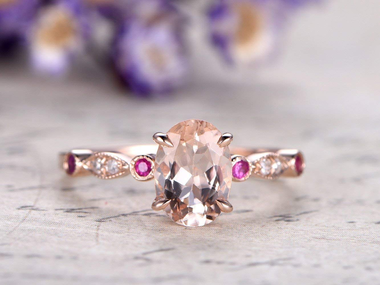 Women ring gold Rose gold ring Ruby promise ring Marquise ring 14k ruby ring Art deco ring Ruby ring gold Promise ring gold
