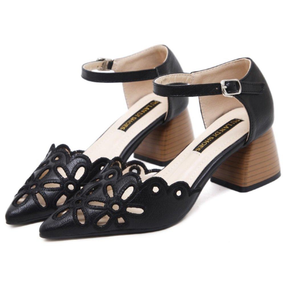 TMKOO Neue Frauen Sandalen, 2018 Mode atmungsaktiv Freizeitschuhe Hohl raue Sandalen Damen Arbeitsschuhe (schwarz, Aprikose) (Color : Schwarz, Grouml;szlig;e : 35)  35|Schwarz
