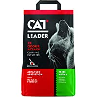Geohellas Cat Leader 2 X Odour Attack Fresh Clumping Cat Litter-Fresh Aroma-5 Kg