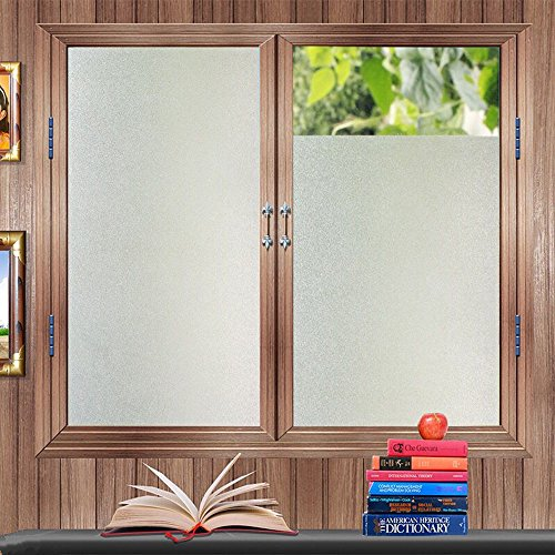 """OstepDecor Multi-Size Frosted Static Cling Privacy Glass Window Films for Home Bathroom Office Meeting & Living Room, 23.6"""" x 78.7"""" (60 x 200cm)"""