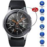 Maxku サムスン Galaxy Watch 46mm ガラスフィルム 日本旭硝子素材採用 高透過率 薄型 硬度9H 飛散防止処理 2.5D ラウンドエッジ加工 自動吸着 Samsung Galaxy Watch 46mmモデル 液晶保護フィルム【2枚入り】