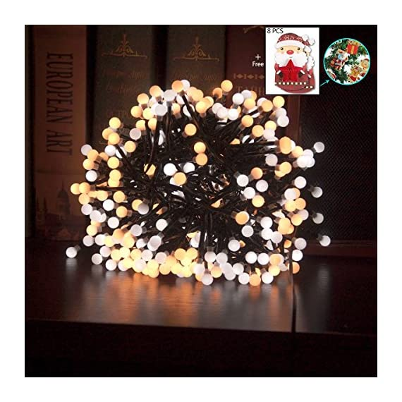Festival String Lights Globe String Lights Fairy Decorative Light Warm White 400 LED Firecracker Decorative Lamp LED Light for Wedding Patio Backyard Bedroom Festival Party Decoration - Special design, this light can use in different weather. Led as bulb to insure the light is bright enough but does not over heat. Firecrackers style design, warm white string lights create a romantic and comfortable atmosphere. - patio, outdoor-lights, outdoor-decor - 61fHysxD9TL. SS570  -