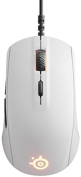 SteelSeries Rival 110 - Ratón de Juego óptico, iluminación RGB, 6 Botones, Blanco