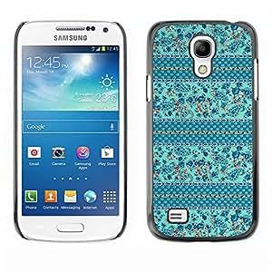 MOBMART Carcasa Funda Case Cover Armor Shell PARA Samsung Galaxy S4 Mini i9190 - Blue Floral China Piece
