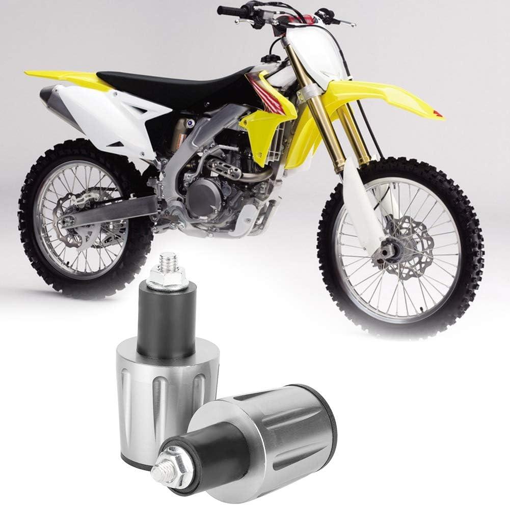 Embouts de guidon de guidon de moto en aluminium de 22 mm argent bouchons accessoire pour voiture de rue