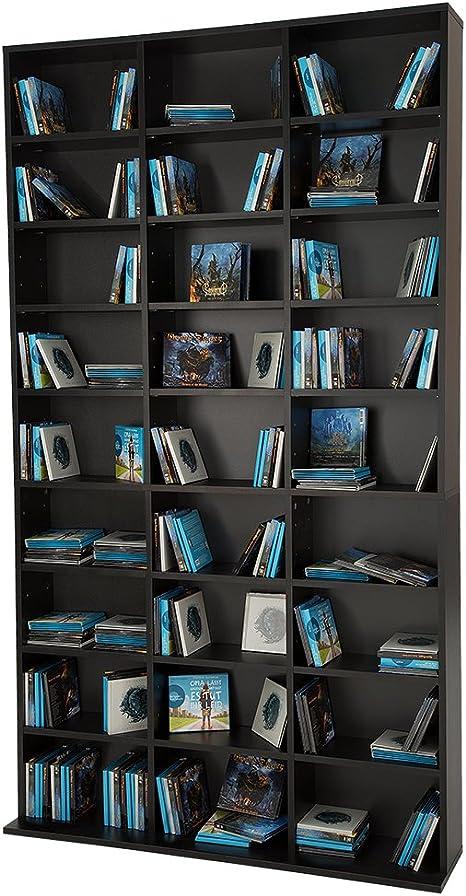 TecTake Estante de CD DVD Shelf archivado 1080 CDs DVDs (Negro | no. 401704)
