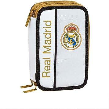 Real Madrid CF Plumier Triple Estuche con 41 Piezas: Amazon.es: Equipaje