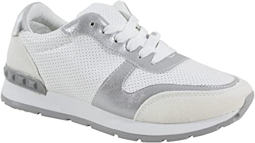 By Shoes Basket Confort Ville Femme Taille 38 White