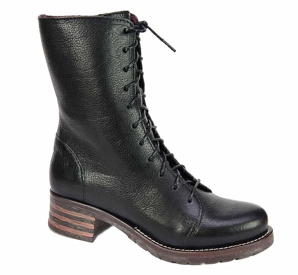 Brako Stiefel Stiefel 8470 TRAVIATA Military Leder schwarz schwarz