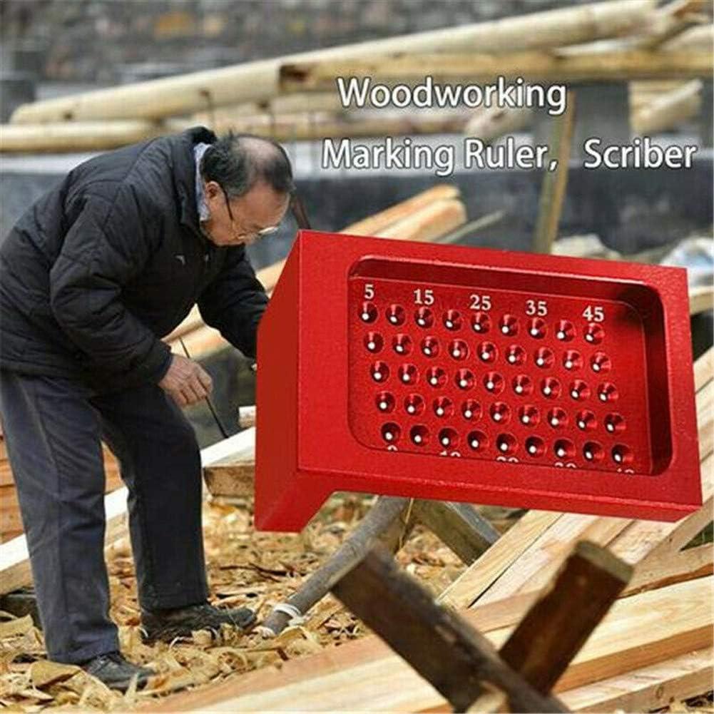 T-Lineal 50-mm-Lochpositionierung Anrei/ßma/ß Aluminiumlegierung Gekreuzte F/ü/ße Metrische Messwerkzeuge lymty Mehrzweck-Holzbearbeitungs-Kratzer Pr/äzisionsmarkierung T-Lineal