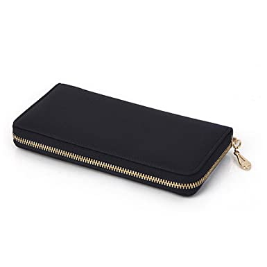 5f3072ed2e5f Bailey Womens Genuine Leather Purse Long Organizer Wallet with Wrist ...