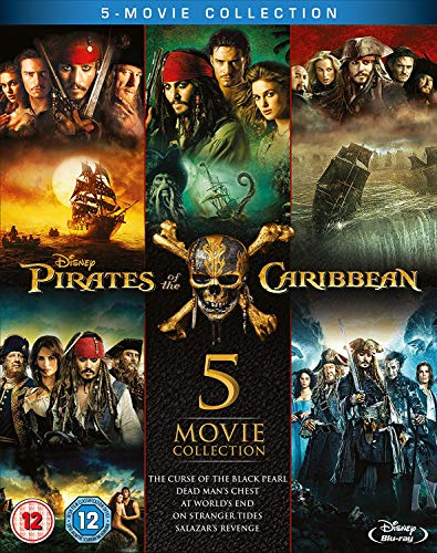 VHS : Pirates of the Caribbean: 5-Movie Complete Collection [Blu-ray] [Region Free] [UK Import]