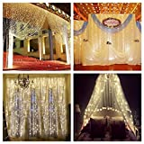 Description: This linkable design led curtain light is composed of the controller and main curtain light two parts. Features: 1.The main curtain lights can be used as one, and multiple curtain light also can be linked one by one, change to be a diffe...