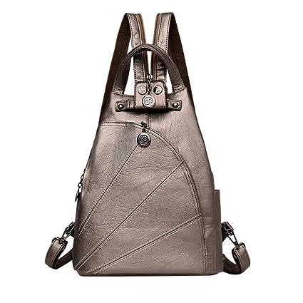5a294e9af8a9 Amazon.com: Hot Sale!DDKK backpacks Ladies Zipper Leather Retro ...