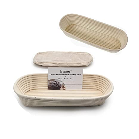 "2X 25cm//10/"" Oval Rattan Banneton Brotform Bread Proofing Rising Basket Handmade"