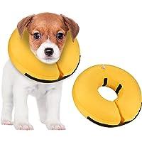 MUKSIRON Collar de recuperación para perros, cono de perro después de la cirugía, collar inflable protector suave para…