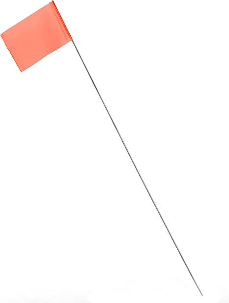 AdirPro 15 inch Construction Survey Stake Flags Bundle of 100 Lime