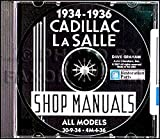 STEP-BY-STEP 1934 1935 1936 CADILLAC & LA SALLE REPAIR SHOP & SERVICE MANUAL CD Includes ALL V-8, V-12, V-16 MODELS