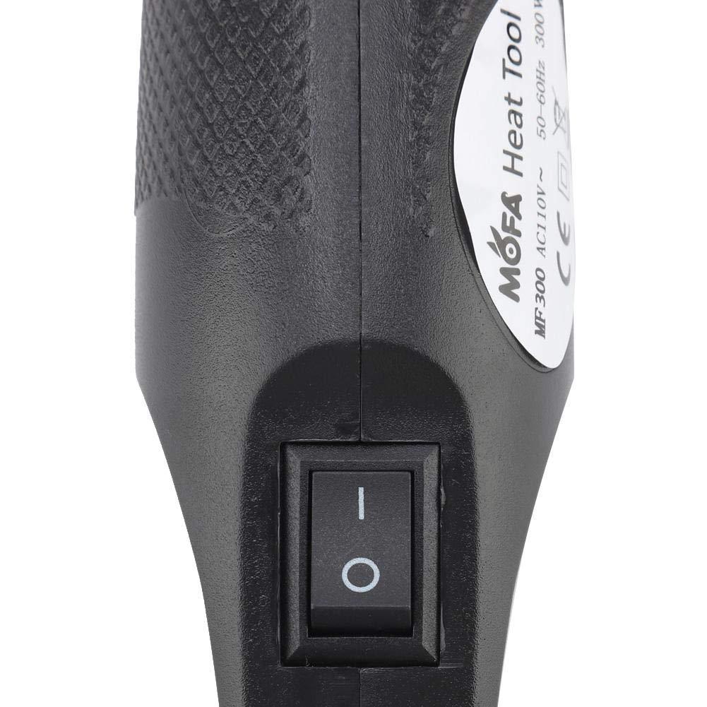 Noir Garosa Mini Pistolet /à air Chaud Portable Mini Pistolet Thermique pour Bricolage gaufrage r/étractable Emballage s/échage Peinture 300W Multi Fonction Outil de Chaleur /électrique