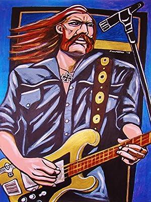 LEMMY KILLMISTER PRINT POSTER guitar cd lp record album vinyl Motorhead hellraiser iron cross rickenbacker bass