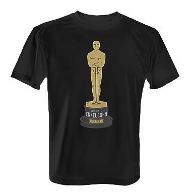 Fashionalarm Herren T-Shirt - Oscar - Der beste Enkelsohn der Welt   Fun  Shirt mit Spruch als Geschenk Idee für ausgezeichnete Enkelkinder:  Amazon.de: ...