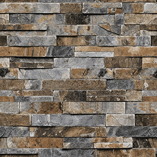 Faux stone wall covering for 3d brick wall covering