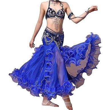 Traje de danza del vientre sujetador y traje de falda vestido sexy ...
