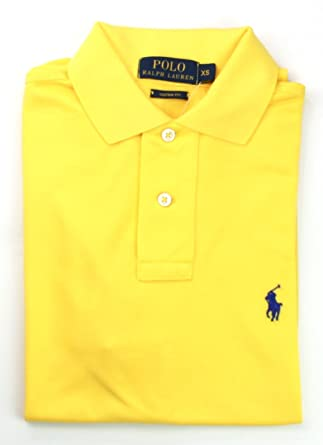 a6150ee5c44d Mens Ralph Lauren Polo Shirt Custom Fit Small Bright Yellow RRP £85   Amazon.co.uk  Clothing