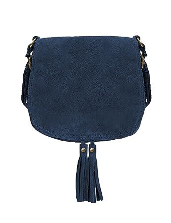 80c0a978cbdd7 Ledertasche dunkel blau klein Lederhandtasche Umhängetasche Fransen echt  Leder Tasche Wildleder Handtasche Vintage Damen 5-
