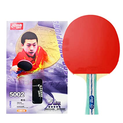 DHS 5-Star Table Tennis Racket Ping Pong Paddle 5002 (Long-Handle) 9dd7bc82ec1d6