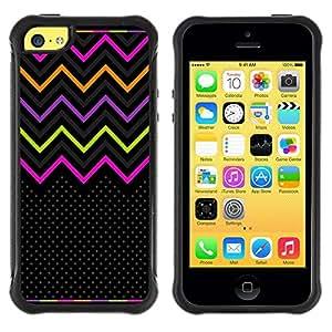 LASTONE PHONE CASE / Suave Silicona Caso Carcasa de Caucho Funda para Apple Iphone 5C / Pattern Purple Energetic Neon