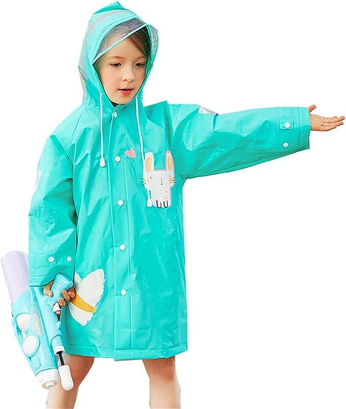 Kleinkind f/ür Kinder f/ür Jungen und M/ädchen Cartoon Regenkleidung Poncho Jacke Regenmantel f/ür Kinder blau M