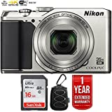 Nikon 26505B COOLPIX A900 20MP 4K WiFi Digital Camera w/35x Optical Zoom Silver + 16GB Bundle with 1 Year Extended Warranty - (Certified Refurbished)