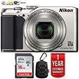 Nikon 26505B COOLPIX A900 20MP 4K WiFi Digital Camera w/ 35x Optical Zoom Silver + 16GB Bundle with 1 Year Extended Warranty - (Certified Refurbished)