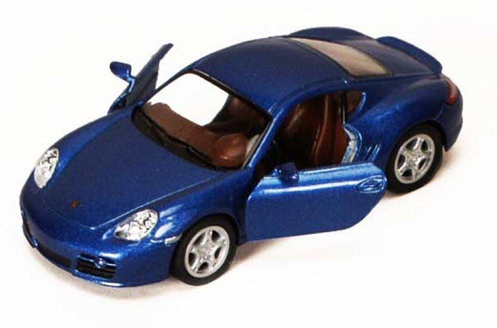 Kinsmart Porsche Cayman S Blue 5307D 1 34 scale Diecast Model Toy Car but NO BOX