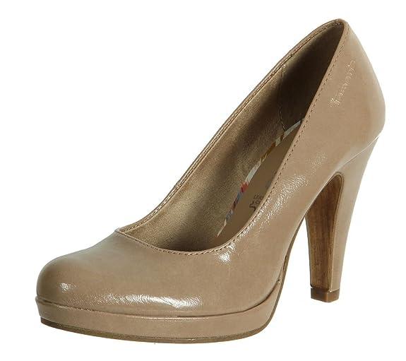 Tamaris 22426 20 Nude Patent Shoe 41: Amazon.co.uk: Shoes & Bags