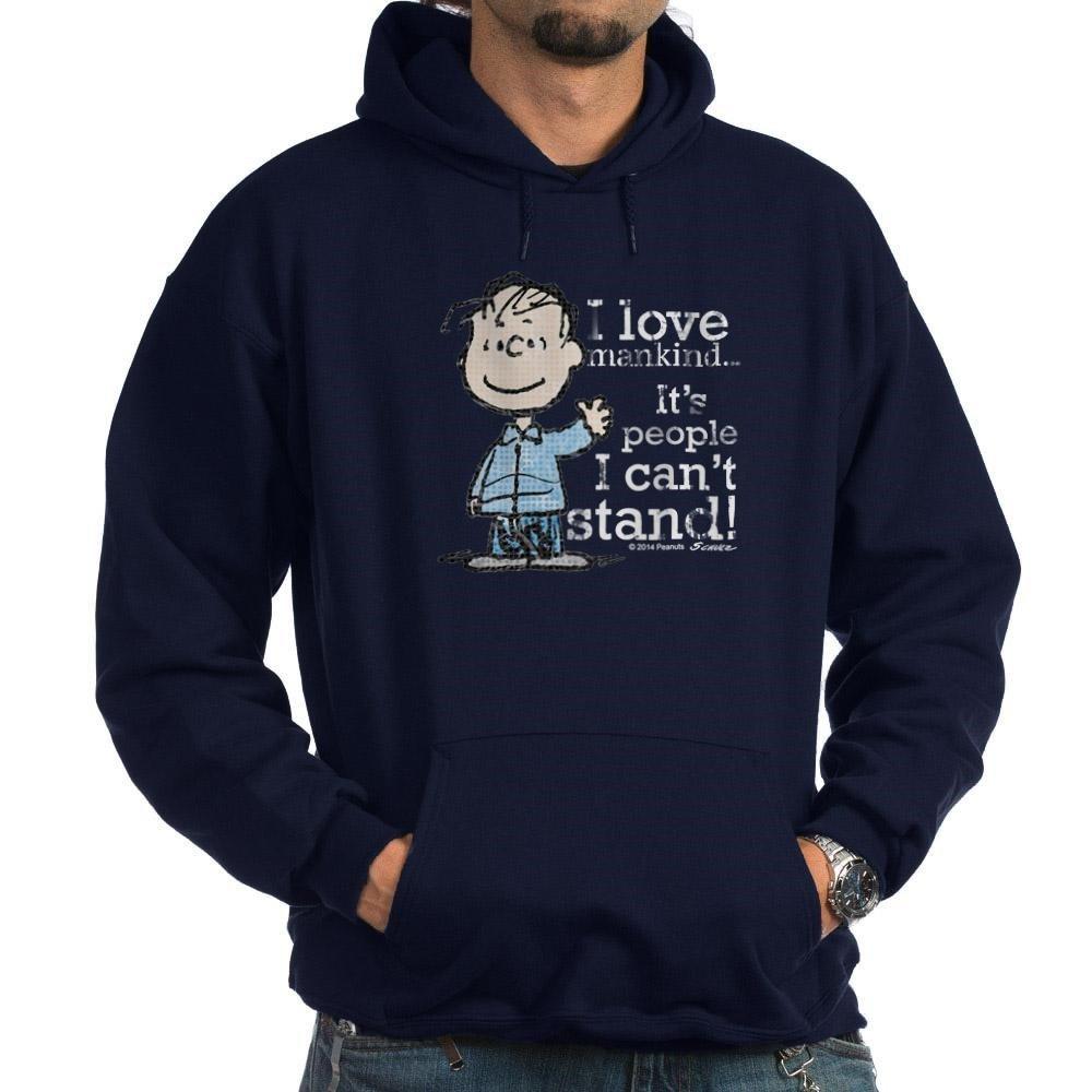 bb2f2cec3 Amazon.com: CafePress The Peanuts Gang: Linus Hoodie (Dark) Sweatshirt:  Clothing