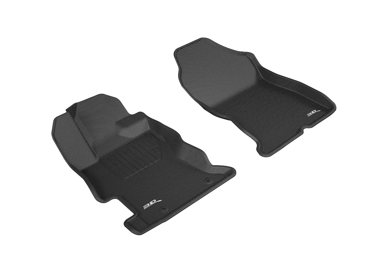 3D MAXpider Front Row Custom Fit All-Weather Floor Mat for Select Subaru Impreza// Crosstrek Models Kagu Rubber Gray