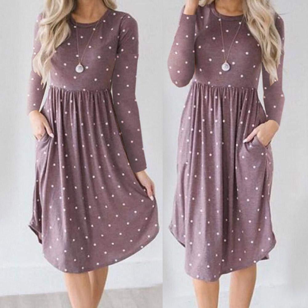 FuweiEncore Vestido de Fiesta Midi de Noche para Mujer (Color : Púrpura, tamaño : Medium): Amazon.es: Hogar
