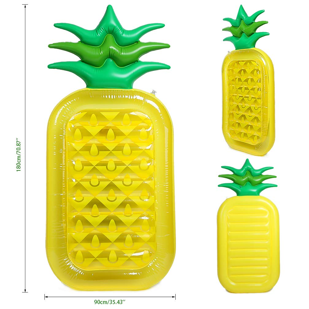 Giant Inflatable Pineapple Float Summer Beach Swimming Pool Toys for Adults /& Kids