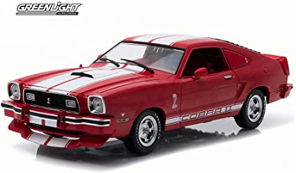 Ford Mustang Cobra II 1978 coupé negro rojo 1//18 GreenLight modelo coche con o..
