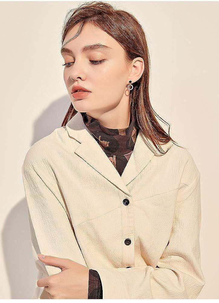 LSDAMW Earrings For Women Drop Dangle Girls Simple Small Circle Earrings Short Earrings Atmosphere High-Grade Ladies Jewelry Earrings Light And Beautiful Jewelry